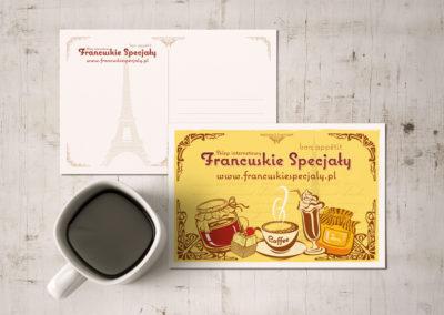 Kartka pocztowa dla sklepu Francuskie Speciały